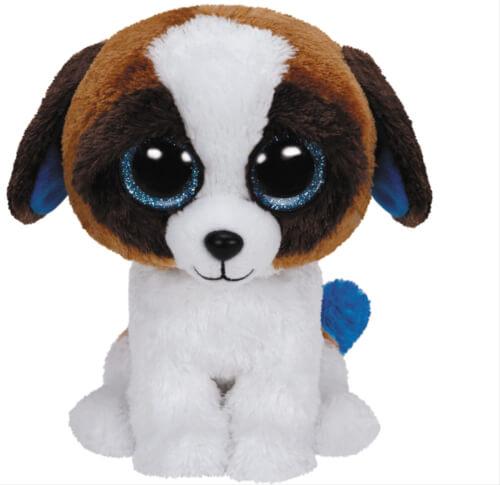 TY Duke - Hund weiss/braun, 15cm