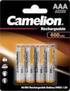 Camelion Akku Micro AAA Ni-MH 600mAh, 4er Blister