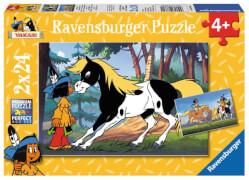 Ravensburger 88690 Puzzle Yakari und der kleiner Donner, 2x24 Teile