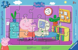 Ravensburger 061235 Puzzle: Peppa am Computer, 8-17 Teile