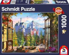 Schmidt Spiele Puzzle Blick aufs Märchenschloss 1.000 Teile