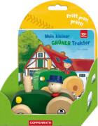 Mein kleiner grüner Traktor, Pappbilderbuch + Holztraktor, 12 Seiten, ab 1 Jahr