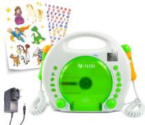 Karaoke CD-Player MP3 mit Akku & Netzteil, grün