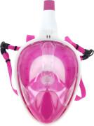 Full Face Schnorchel-Maske, pink-weiß
