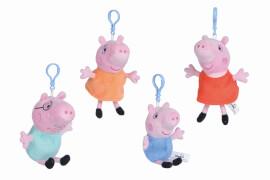Simba Peppa Pig Plüsch Schlüsselanhänger, 4-s.